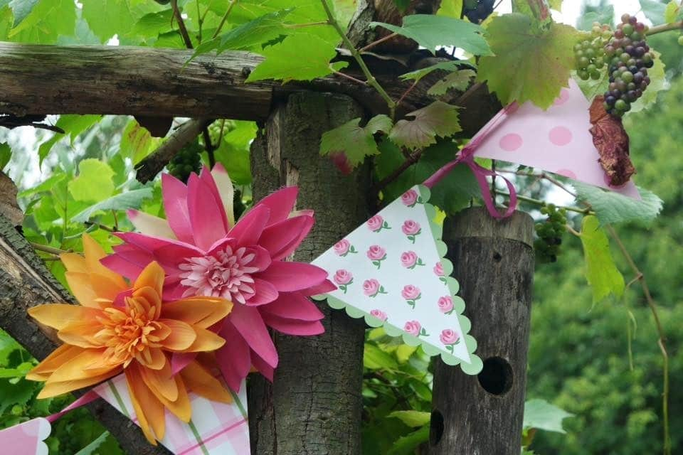 bunting floral garden party summer