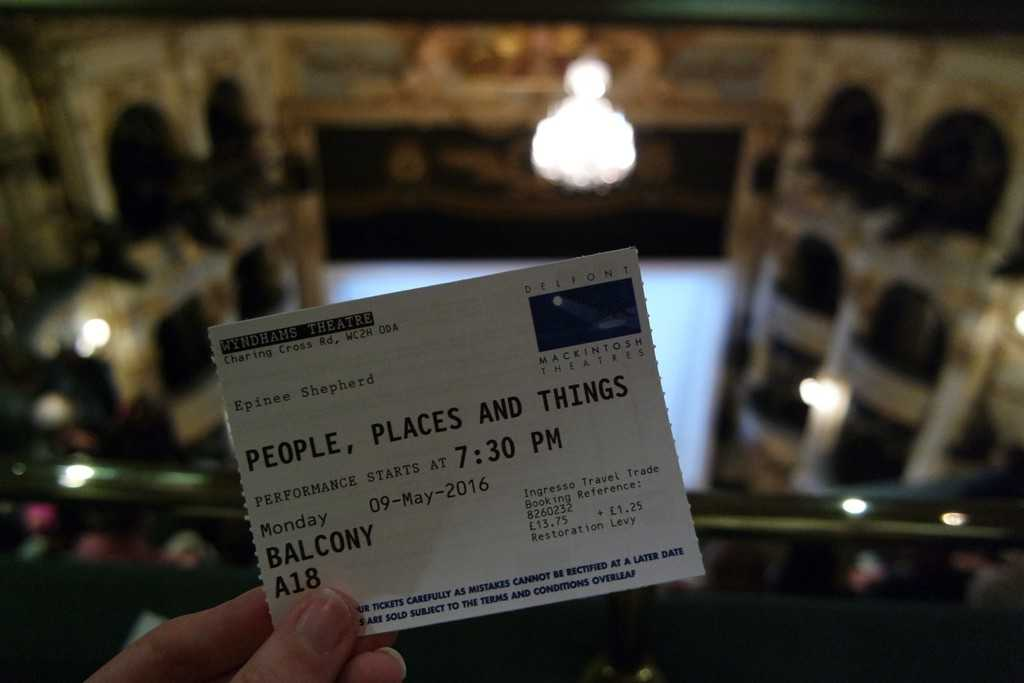 people places and things theatre review
