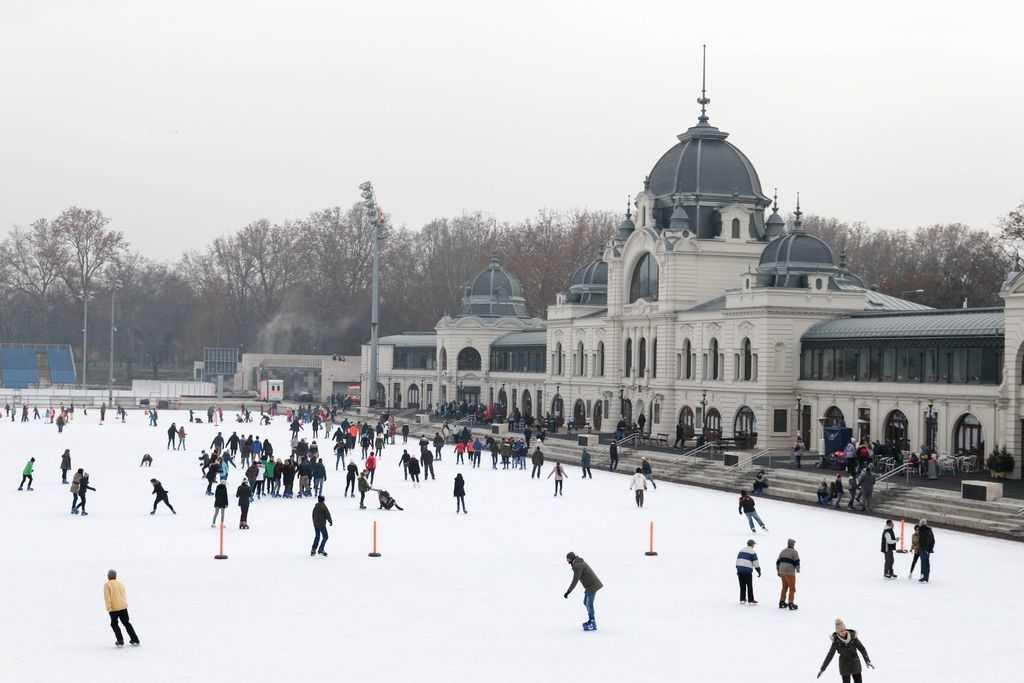 The sights of Varosliget; Budapest's City Park