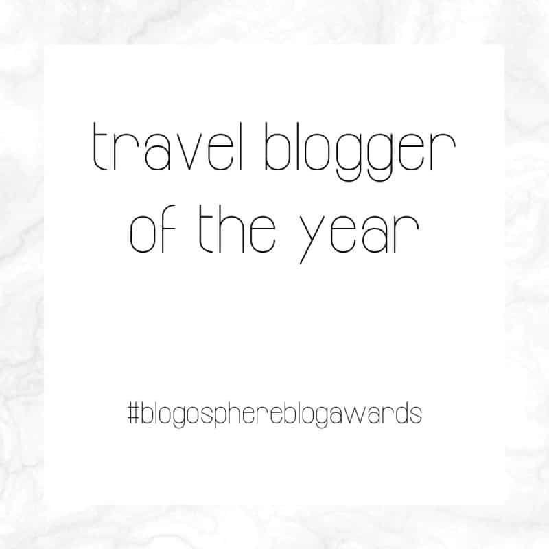 Nominated for travel blogger of the year... say what