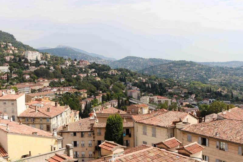 grasse France hills view