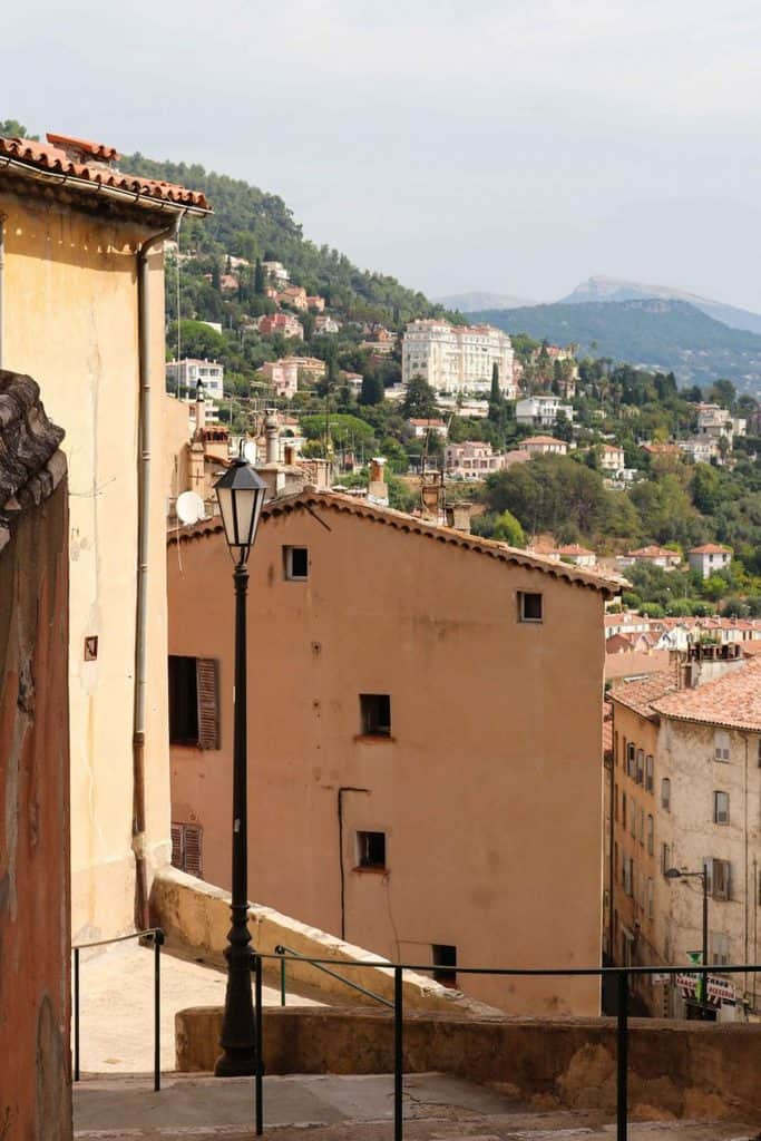 Hills and buildings in Grasse, France