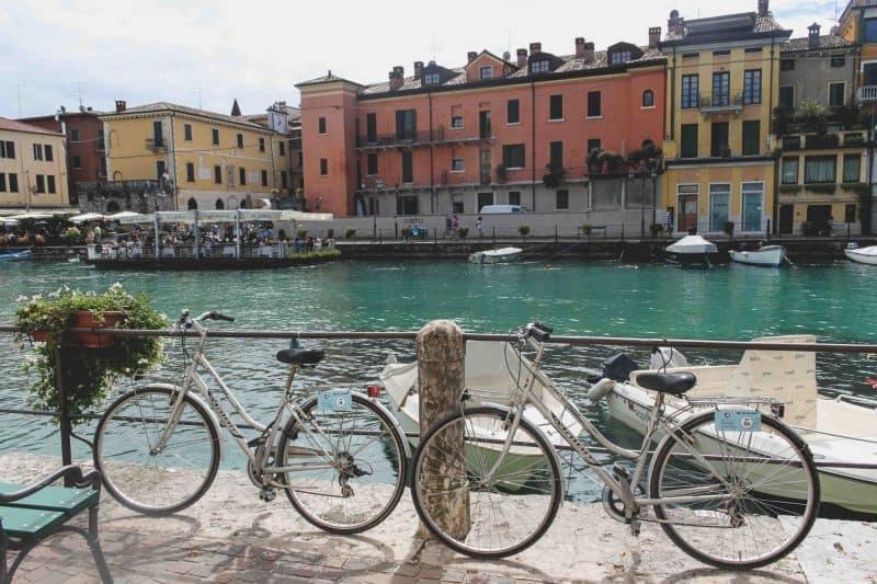 bikes lake Garda Italy peschiara