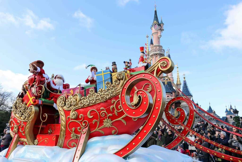 Disneyland Paris sleigh Christmas parade