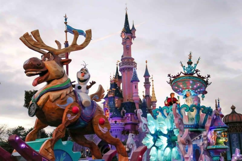 frozen disney stars parade