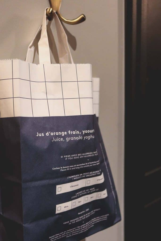 hoxton breakfast bag