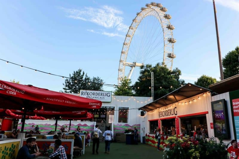 rekorderlig london south bank botanicals london eye summer