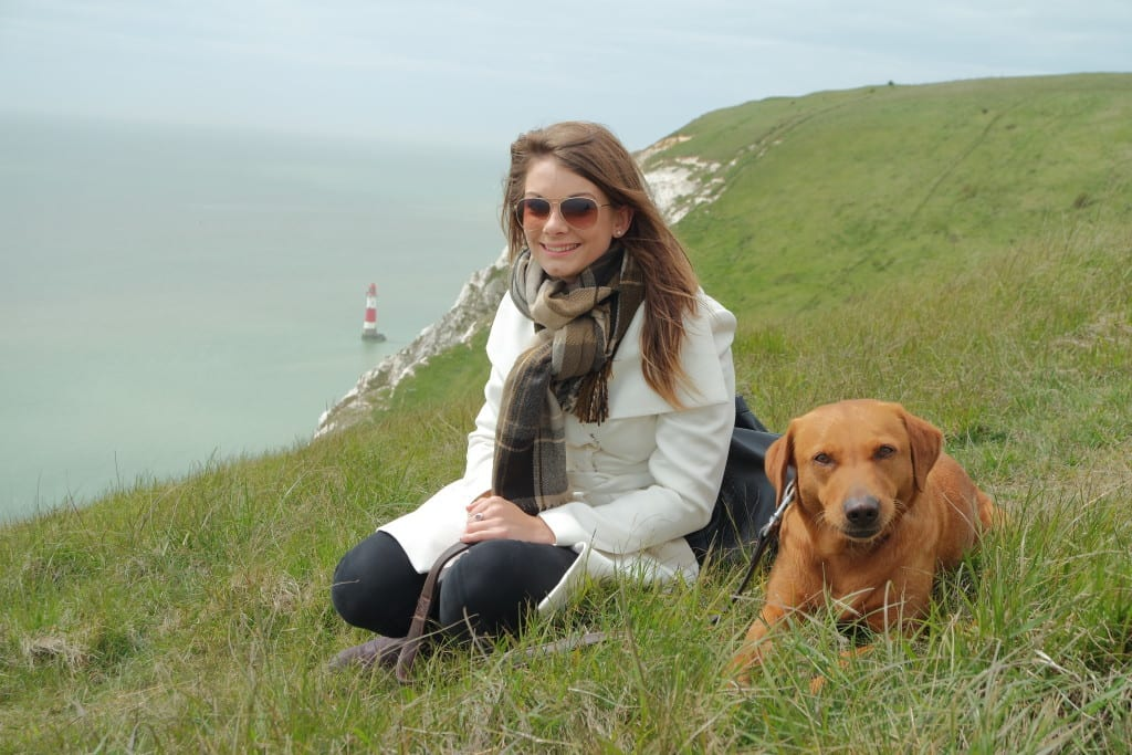 seven sisters east sussex lighthouse eppie shepherd labrador poppy