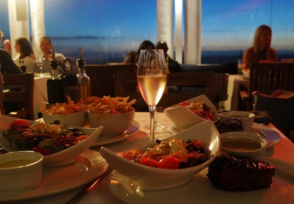 the bungalow cape town sunset dinner