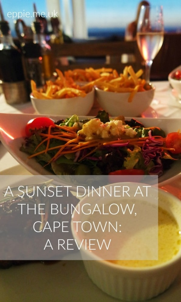 sunset dinner the bungalow cape town review